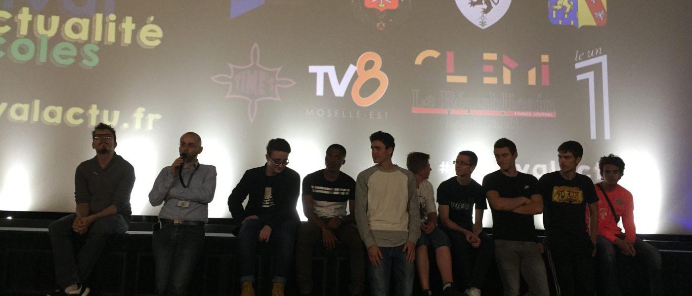 Deux films du lycée Cuvelette au Festival du Film d'Actualité dans les Ecoles