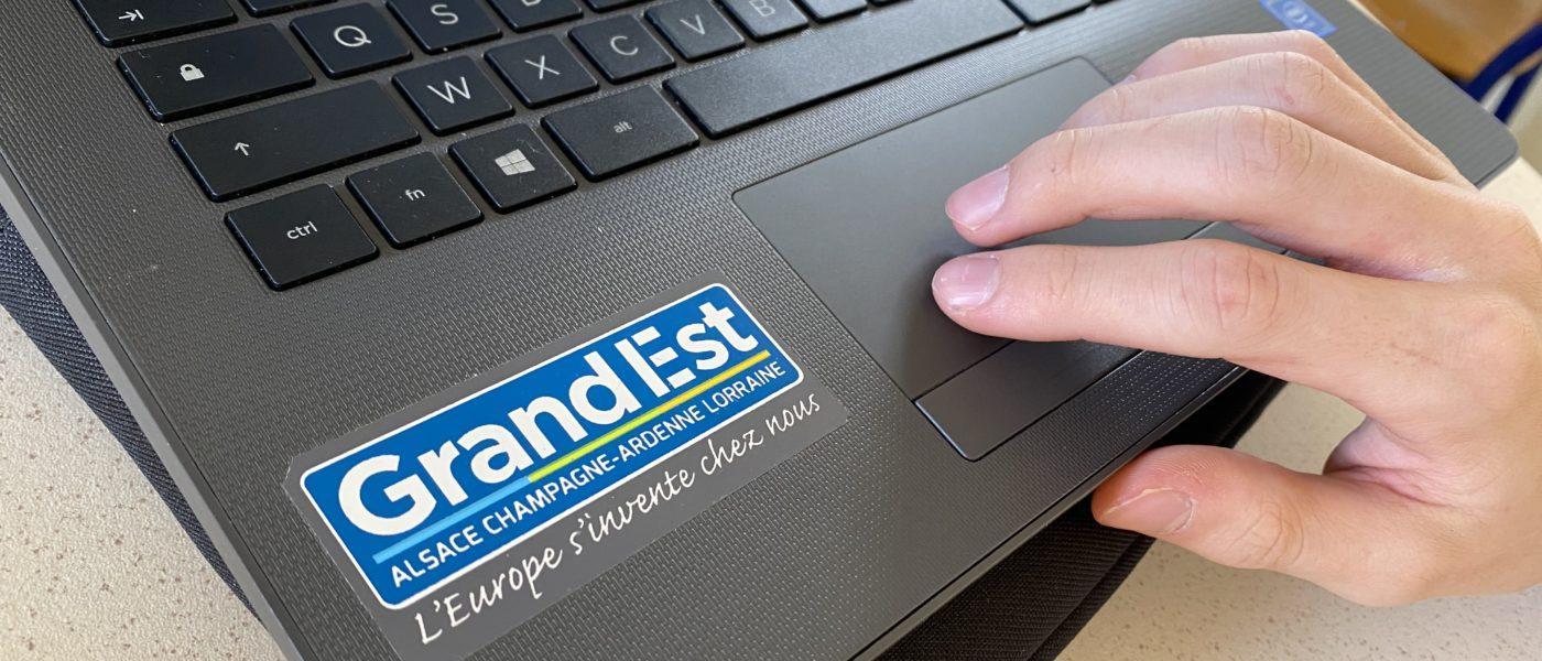 Remise des ordinateurs portables par la Région Grand Est